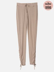 Rib Deluxe & Lace - Hose - Camel
