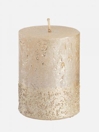 Chic Candle - Kerze duftneutral - Elfenbein-Gold