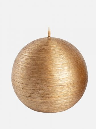 Glamour Ball Candle - Kerze duftneutral - Gold