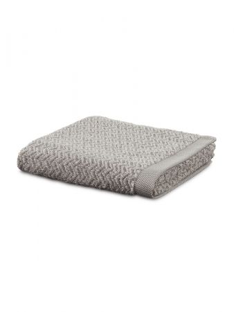 Chevron Towel - Badetuch - Weiß-Sand
