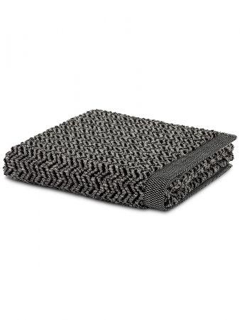 Chevron Towel - Badetuch - Weiß-Schwarz