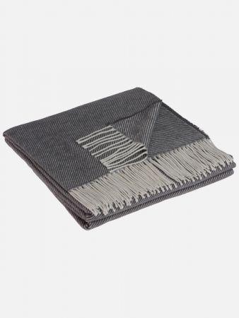 Cotton Twill - Decke - Dunkelgrau