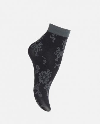 Trendy Dark Flower - Socken
