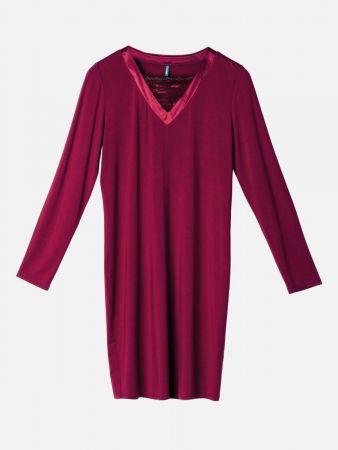 Sleepy Splendor - Nachthemd - Bordeaux