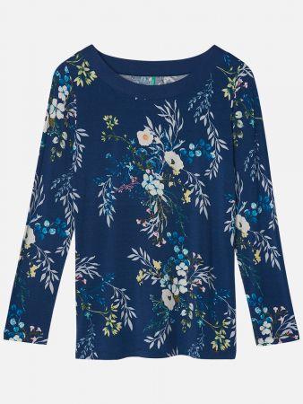 Florale Blue - Nachtwäsche Shirt