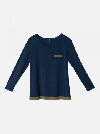Luxe Dark Nights - Nachtwäsche Shirt - Dunkelblau