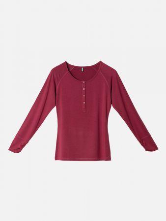 Toasty Nights - Nachtwäsche Shirt - Bordeaux