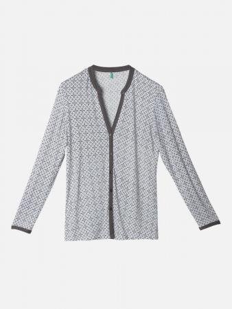 Mosaic Slumber - Nachtwäsche Shirt - Grau-Bunt