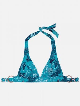 Shiny Floral - Triangel Bikini-Top