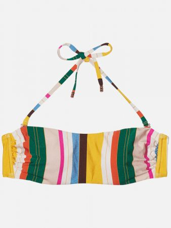 Santos Beach Stripe - Bandeau Bikini-Top