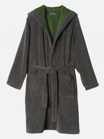 Cactus Robe - Bademantel - Grau-Grün