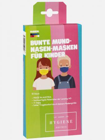 Mund-Nasen-Masken - Kinder - 10er-Pack