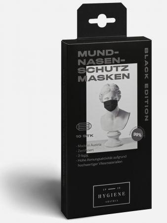 Mund-Nasen-Masken - Black Edition - 10er-Pack