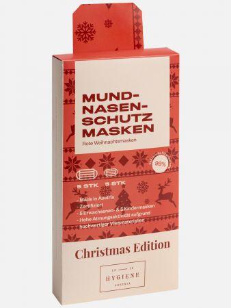 Mund-Nasen-Masken - Christmas Edition - 10er-Pack