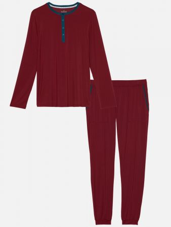 Royal Night Red - Pyjamahose