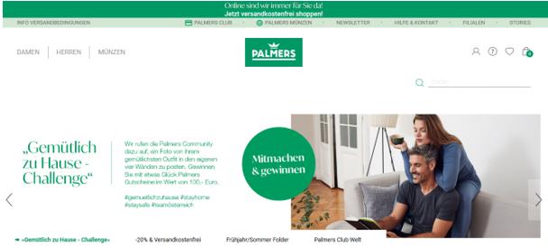 Palmers Startseite